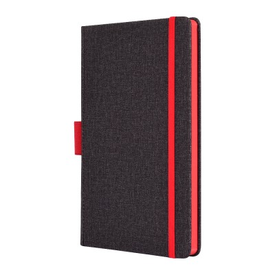 Clarke - Grey + Red Notebook
